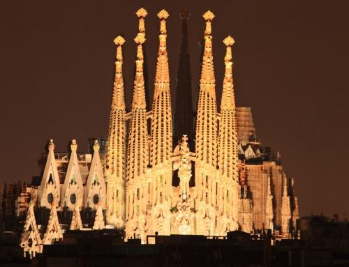 Illuminating the central nave of the Sagrada Familia